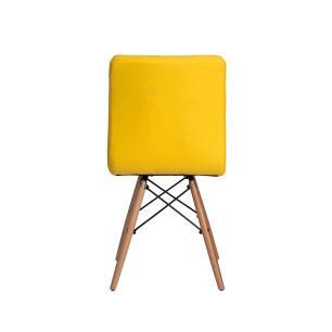 Kit 3 Cadeiras Charles Eames Gomos Amarela