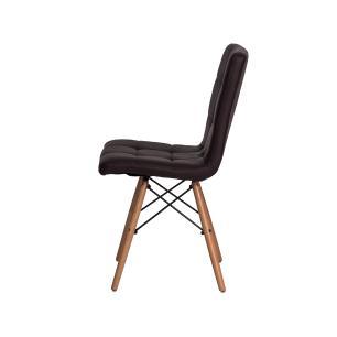 Kit 2 Cadeiras Charles Eames Gomos Marrom