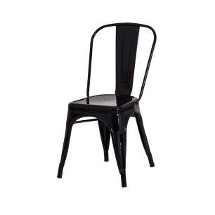 Kit 4 Cadeiras Tolix Iron Industrial Preta