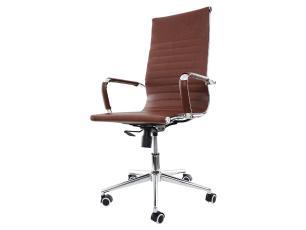 Cadeira De Escritório Presidente Charles Eames Stripes Marrom