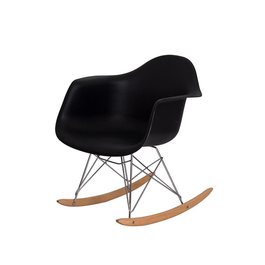Cadeira Eiffel Eames RAR c/Braço Preta Balanço