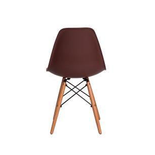 Kit 6 Cadeiras Charles Eames Eiffel Marrom Base Madeira