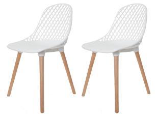 Kit 2 Cadeiras Vision Branca
