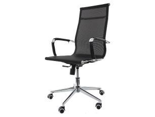 Kit 2 Cadeiras De Escritório Presidente Charles Eames Mesh Preta