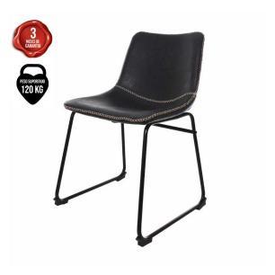 Cadeira Para Mesa De Jantar Sala Cozinha Escrivaninha Munich Bruna Courino Preta