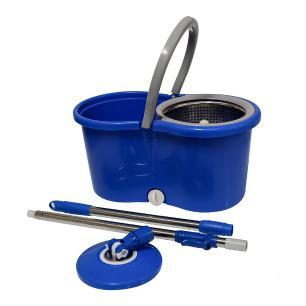 Balde Esfregão Spin Mop Com Centrífuga Inox 360 e 2 Refis De Microfibra MOP02