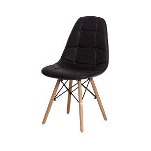 Cadeira Charles Eames Botonê Marrom Base Madeira