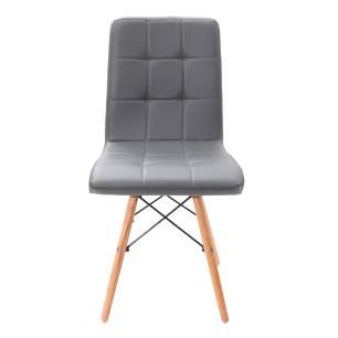 Kit 2 Cadeiras Para Mesa De Jantar Sala Cozinha Escrivaninha Charles Eames Gomos Cinza