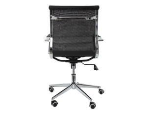 Kit 2 Cadeiras De Escritório Diretor Charles Eames Mesh Preta