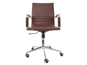 Cadeira De Escritório Diretor Charles Eames Stripes Marrom