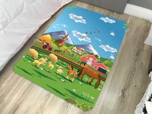Tapete  Infantil  de Brincar Estampa Digital 95x130 Fazenda