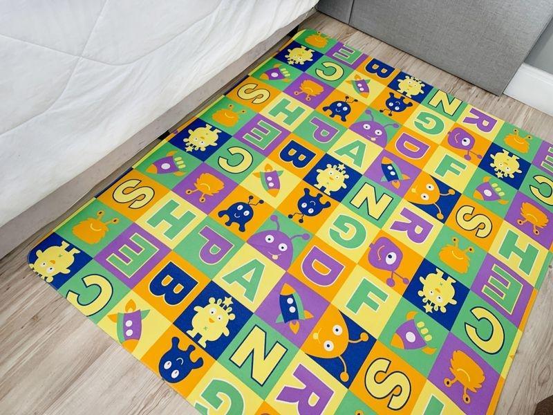 Tapete Infantil 100x130m Tecil Letras