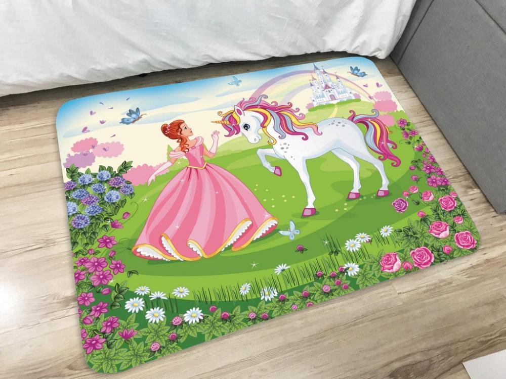 Tapete Infantil de Brincar Estampa Digital 95x130m Princesa