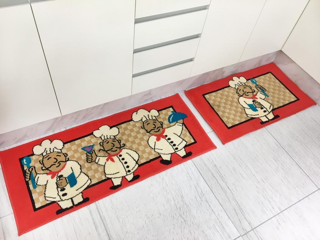Kit de Tapete para Cozinha 2 peças Cheff