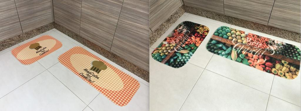 2 Kits de Tapete para Cozinha Cada Kit contém 2 peças
