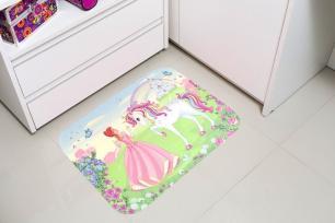 Tapete Infantil 40cmx60cm Estampa Digital Princesa