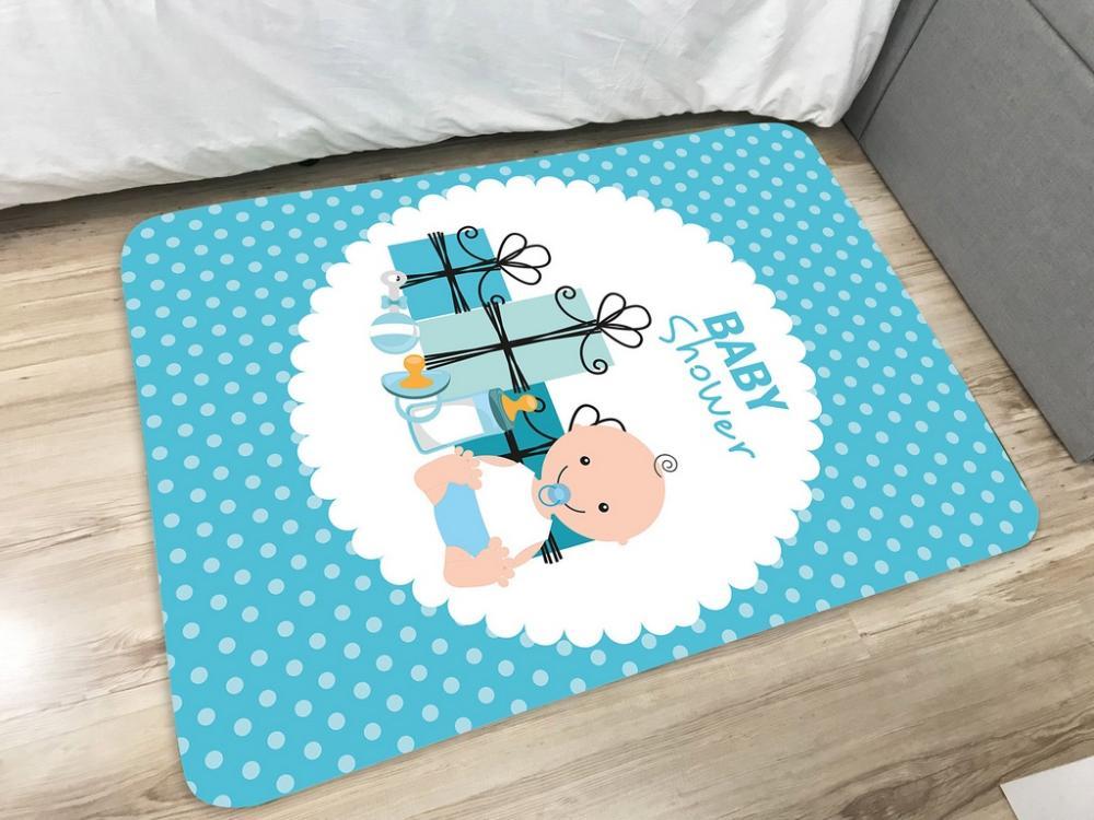 Tapete  Infantil  de Brincar Estampa Digital 95x130 Baby Boy