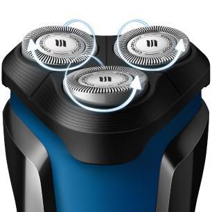 Barbeador Philips S1030/04 Bivolt com 3 cabeças de corte