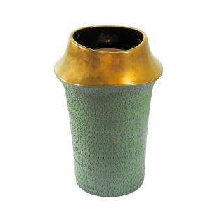 Vaso Decorativo em Cerâmica Verde - 30x20cm