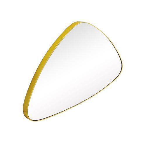 Espelho Triangular com Moldura Folheada a Ouro - 35x55cm