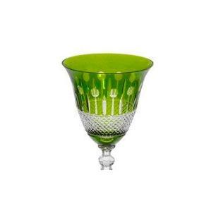 Taça de Cristal Polonês Verde Para Vinho - 290ml