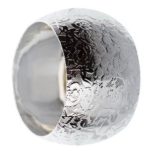 Jogo de 4 Anéis para Guardanapo em Ferro cor Prata - 4,2x2,8cm