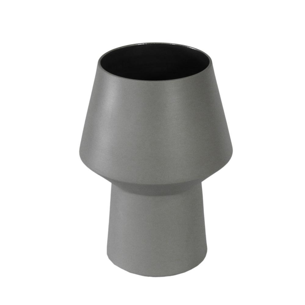 Vaso Decorativo Produzido em Cerâmica Cinza - 23x13cm