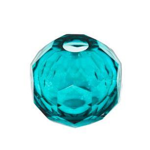 Vaso Decorativo em Vidro Azul - 10x10cm
