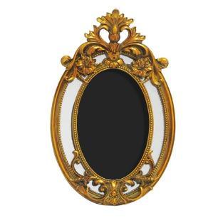 Porta Retrato Revestido em Resina Dourada - 27,5x18,5cm