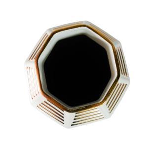 Vaso Decorativo em Porcelana na Cor Branca - 50x23cm
