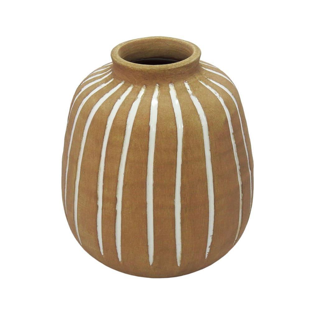Vaso Decorativo em Cerâmica Terracota - 20x17cm