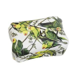 Caixa em Cerâmica Papagaios - 9x18x14cm