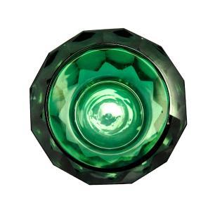 Vaso em Vidro Murano na Cor Verde- 12x15x12cm