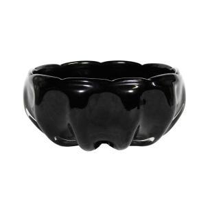 Bowl Decorativo em Murano Preto - 9x20cm