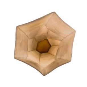 Vaso Decorativo em Vidro na Cor Marrom - 33x17cm