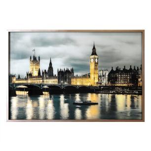 Quadro Decorativo em Vidro com Paisagem de Londres - 80x120cm