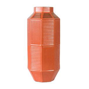Vaso Decorativo em Porcelana na Cor Salmão - 50x23cm