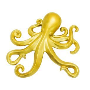 Escultura de Polvo Dourado em Cerâmica - 03x22x21cm