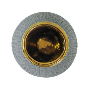 Vaso Decorativo em Cerâmica Cinza - 18x20cm