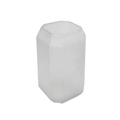 Vaso Decorativo em Vidro Branco - 28x15x15cm