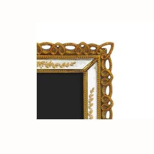 Porta Retrato Revestido em Resina Dourada - 24x19cm