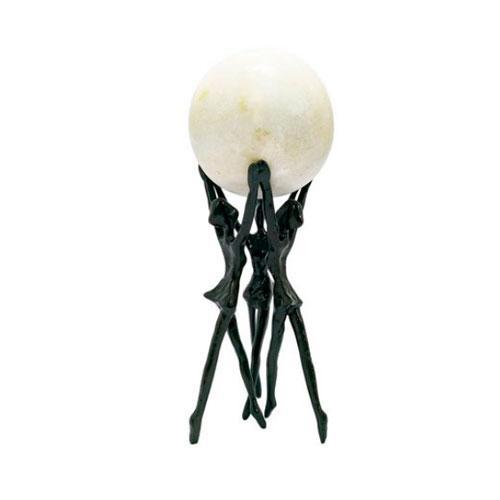 Escultura Decorativa Bailarinas na Cor Preto - 26x11x11cm