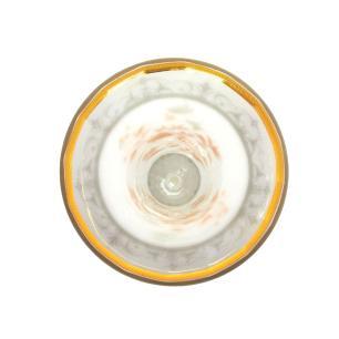 Vaso Decorativo em Vidro Branco com Detalhes em Dourado - 30x16cm