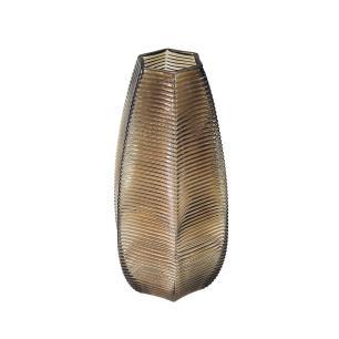 Vaso Decorativo em Vidro na Cor Marrom - 30x15cm