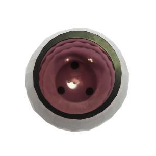 Vaso Decorativo Roxo em Vidro Facetado - 20x10x10cm