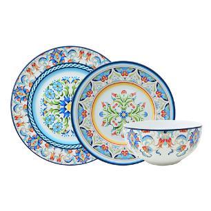 Aparelho de jantar 18 peças Tunisia em porcelana