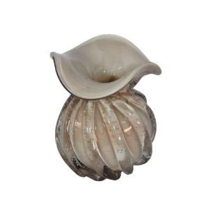 Vaso em Murano Branco - 16x14cm
