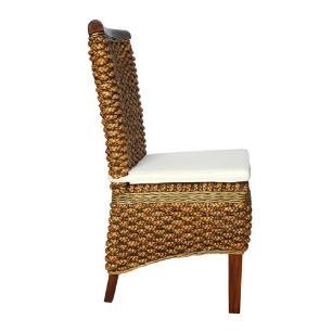 Cadeira  Área Externa Produzida em Madeira e Rattan - 45x100x50cm