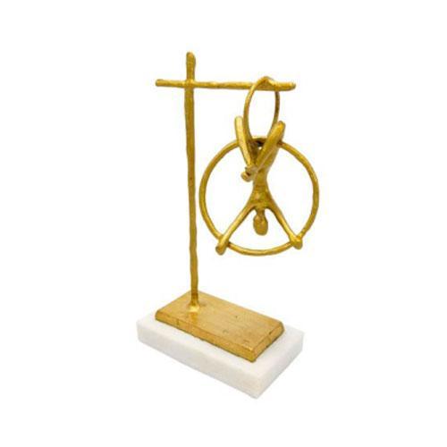 Escultura Decorativa Lira de Giro - 21x13x6,5cm