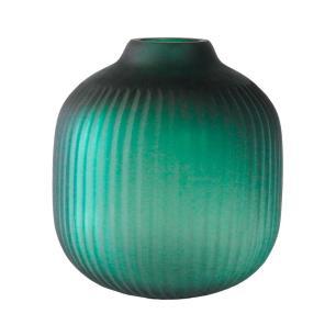 Vaso Decorativo em Vidro na Cor Verde - 21x19cm
